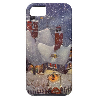 Navidad del vintage, el taller de Santa en Polo iPhone 5 Cárcasas