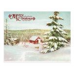 Navidad del vintage en Noruega, 1950 Tarjetas Postales