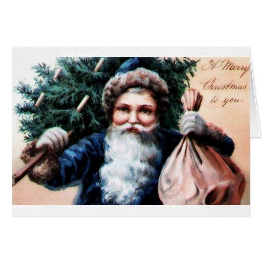 Navidad del vintage felicitacion