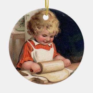 Navidad del vintage - galletas de la hornada del c adorno de reyes
