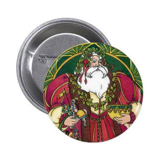 Navidad del vintage, hojas del acebo de Papá Noel