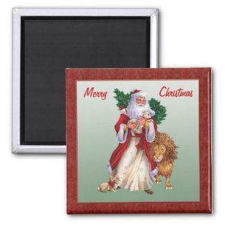 Navidad del vintage, imán de St.Nicolas