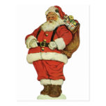 Navidad del vintage, juguetes de Papá Noel del Postal