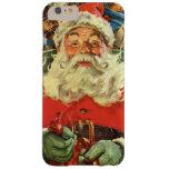 Navidad del vintage, juguetes del trineo del vuelo funda de iPhone 6 plus barely there