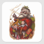 Navidad del vintage, juguetes del tubo de Papá Colcomania Cuadrada