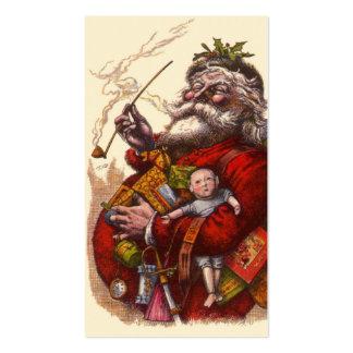 Navidad del vintage, juguetes del tubo de Papá Tarjetas De Visita