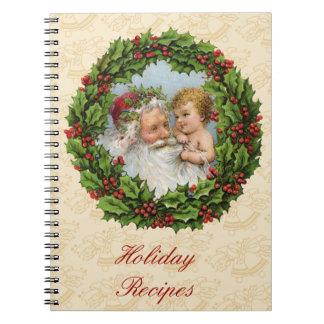 Navidad del vintage libros de apuntes