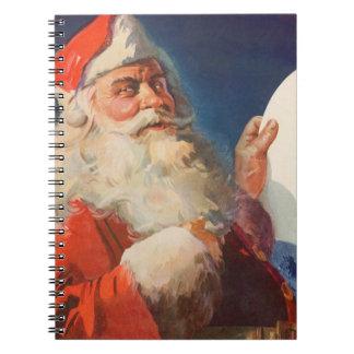 Navidad del vintage, lista traviesa de Papá Noel Libro De Apuntes