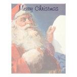Navidad del vintage, lista traviesa de Papá Noel N Membrete