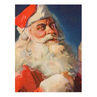 Navidad del vintage lista traviesa de Papá Noel N