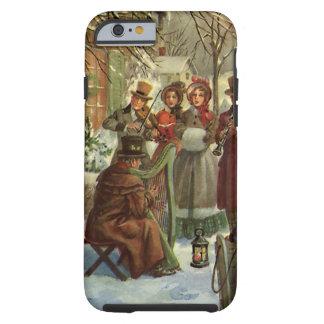 Navidad del vintage, música del juego de los funda resistente iPhone 6