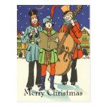 Navidad del vintage, músicos Caroling