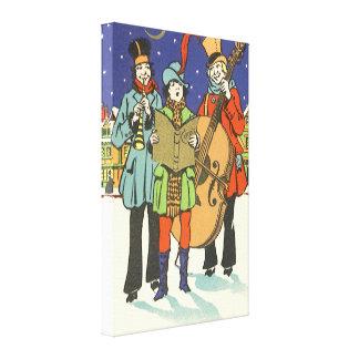 Navidad del vintage músicos Caroling