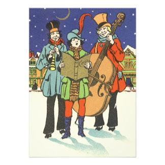 Navidad del vintage, músicos Caroling Comunicados Personales