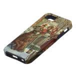Navidad del vintage, músicos del Victorian iPhone 5 Carcasas