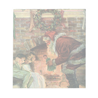 Navidad del vintage, niños de Papá Noel del Blocs