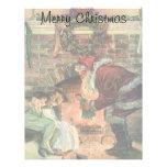 Navidad del vintage, niños de Papá Noel del Membrete