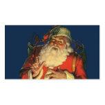 Navidad del vintage, Papá Noel alegre con los Tarjetas Personales