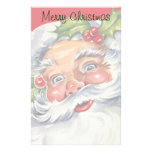 Navidad del vintage, Papá Noel alegre con su gorra Papeleria De Diseño