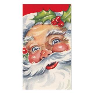Navidad del vintage, Papá Noel alegre con su gorra Tarjetas De Visita
