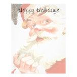 Navidad del vintage, Papá Noel alegre con un secre Membretes Personalizados