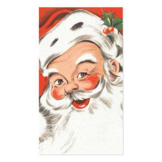 Navidad del vintage, Papá Noel alegre Plantillas De Tarjeta De Negocio