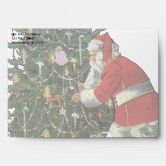 Navidad del vintage, Papá Noel con los presentes Sobre