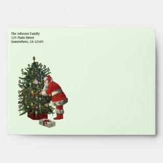 Navidad del vintage, Papá Noel con los presentes Sobres