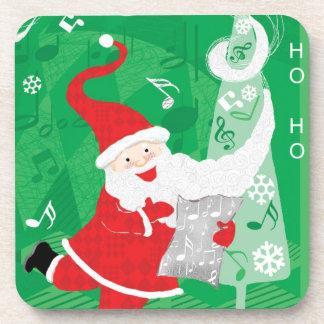 Navidad del vintage, Papá Noel que canta y que Posavaso