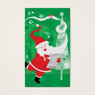 Navidad del vintage, Papá Noel que canta y que Tarjeta De Negocios
