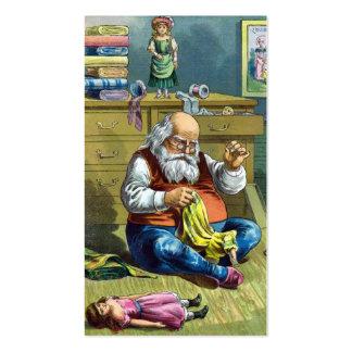 Navidad del vintage, Papá Noel que hace las Tarjetas De Visita
