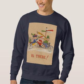 Navidad del vintage, Papá Noel que monta una Sudadera