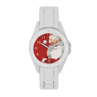 Navidad del vintage, Papá Noel Relojes De Pulsera