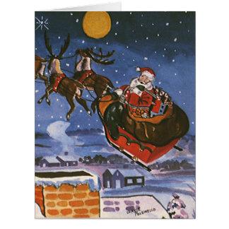 Navidad del vintage, Papá Noel Felicitacion