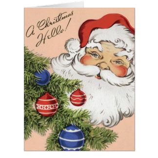 Navidad del vintage, Papá Noel Tarjeton
