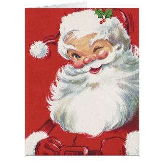 Navidad del vintage, Papá Noel Felicitación