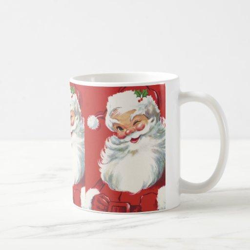 Navidad del vintage, Papá Noel Tazas De Café