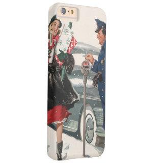Navidad del vintage, policía de los presentes que funda de iPhone 6 plus barely there