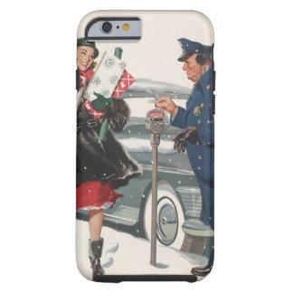 Navidad del vintage, policía de los presentes que funda para iPhone 6 tough