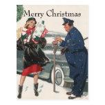 Navidad del vintage, policía de los presentes que  tarjetas postales