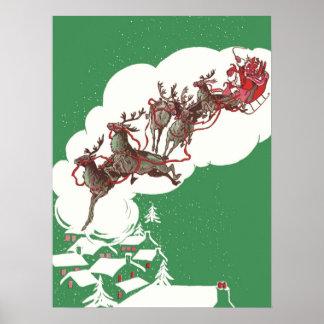 Navidad del vintage póster