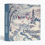 """Navidad del vintage, pueblo Snowscape del invierno Carpeta 1"""""""
