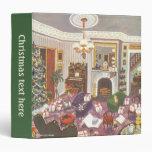 Navidad del vintage que envuelve presentes en sala