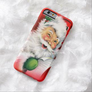 Navidad del vintage que guiña Santa Funda De iPhone 6 Barely There
