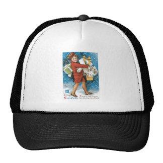 Navidad del vintage que saluda gorras de camionero