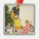 Navidad del vintage, regalos de la abertura de la  ornamentos de navidad