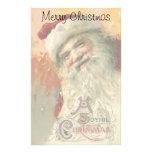 Navidad del vintage, retrato de Papá Noel del Papelería De Diseño