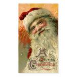Navidad del vintage, retrato de Papá Noel del Tarjetas De Visita