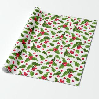 Navidad del vintage rojo y papel de embalaje verde papel de regalo