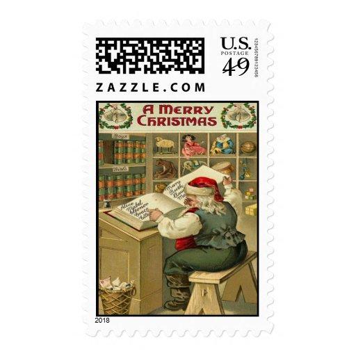 Navidad del vintage sello